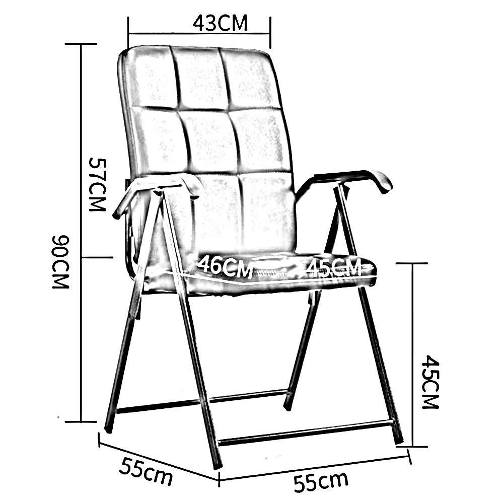 WYYY stolar kontorsstol hopfällbara stolar stålram mottagningskonferens PU-säte dator skrivbordsstol hållbar stark (färg: Brun) Rosa