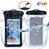 ABNER (2pack) Universal Waterproof Floating phone Case Dry Bag smartphone Pouch for IPhone 7/7P 6s/ 6P, SE 5S/ 5C/ 5, Galaxy S8/S7/S6 Edge, Note 5/4, LG G6/G5,HTC 10,Sony Nokia up to 6.0""