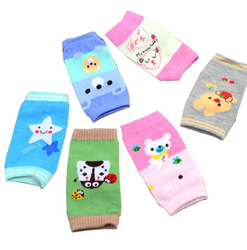 Luckystaryuan ® Black Friday Deal Set of 6 Sponge Infant Children Crawling Kneepads Baby Leg Warmer hx14uk
