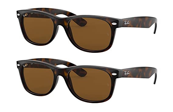 3625ea87e74a0 Image Unavailable. Image not available for. Color  Ray-Ban New Wayfarer  RB2132 902 57 55MM Sunglasses ...