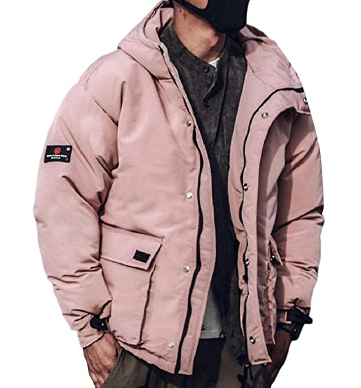 Sebaby Men Brumal Hoodie Pockets Puffer Padded Parka Jacket Coat Outwear