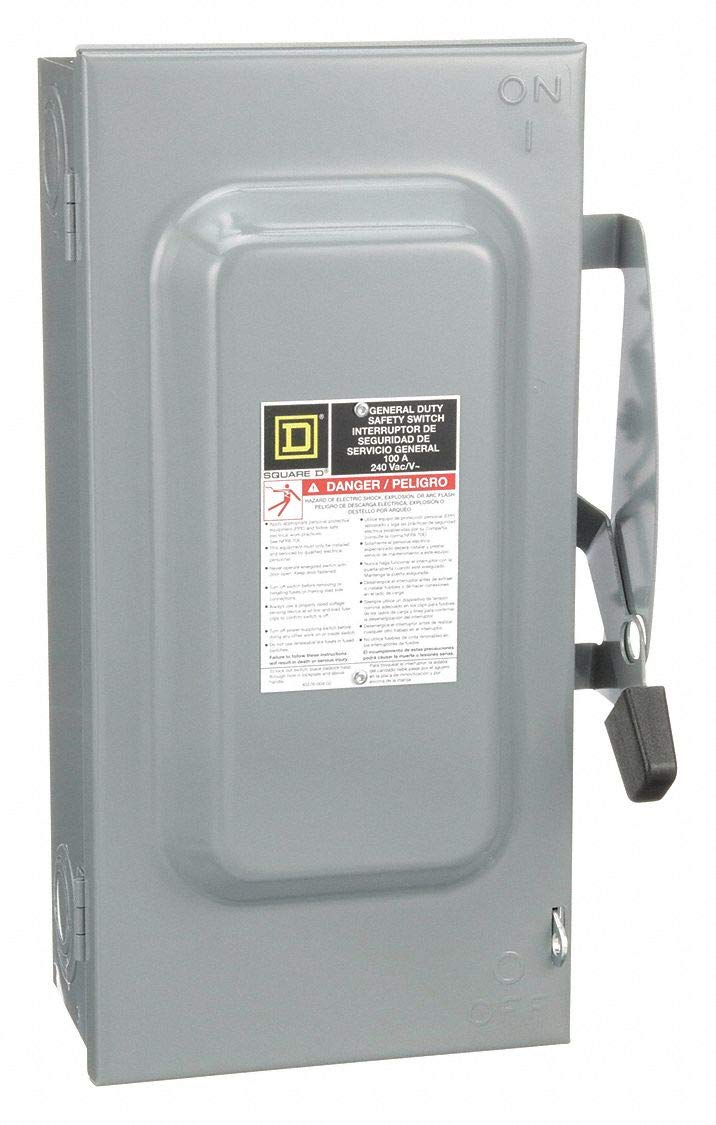 Square D Safety Switch, 1 NEMA Enclosure Type, 100 Amps AC, 15 HP @ 240VAC HP: Amazon.com: Industrial & Scientific