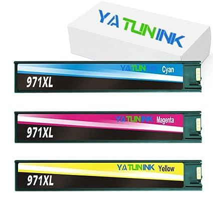 yatunink 3 Pack Color cartuchos de tinta de repuesto para HP 971 ...