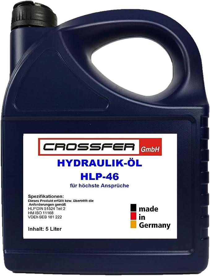 Crossfer Hydraulic Oil Hlp46 5 Litres For Hydraulic Presses Wood Splitter Trolley Jack Hydraulic Fluid Hydraulic Fluid 46 Viscosity Auto