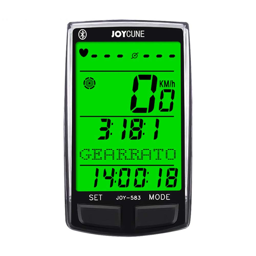 1KTon Wireless Bicycle Computer Stopwatch Large Screen Backlight Blueteeth Multi-funct by 1KTon