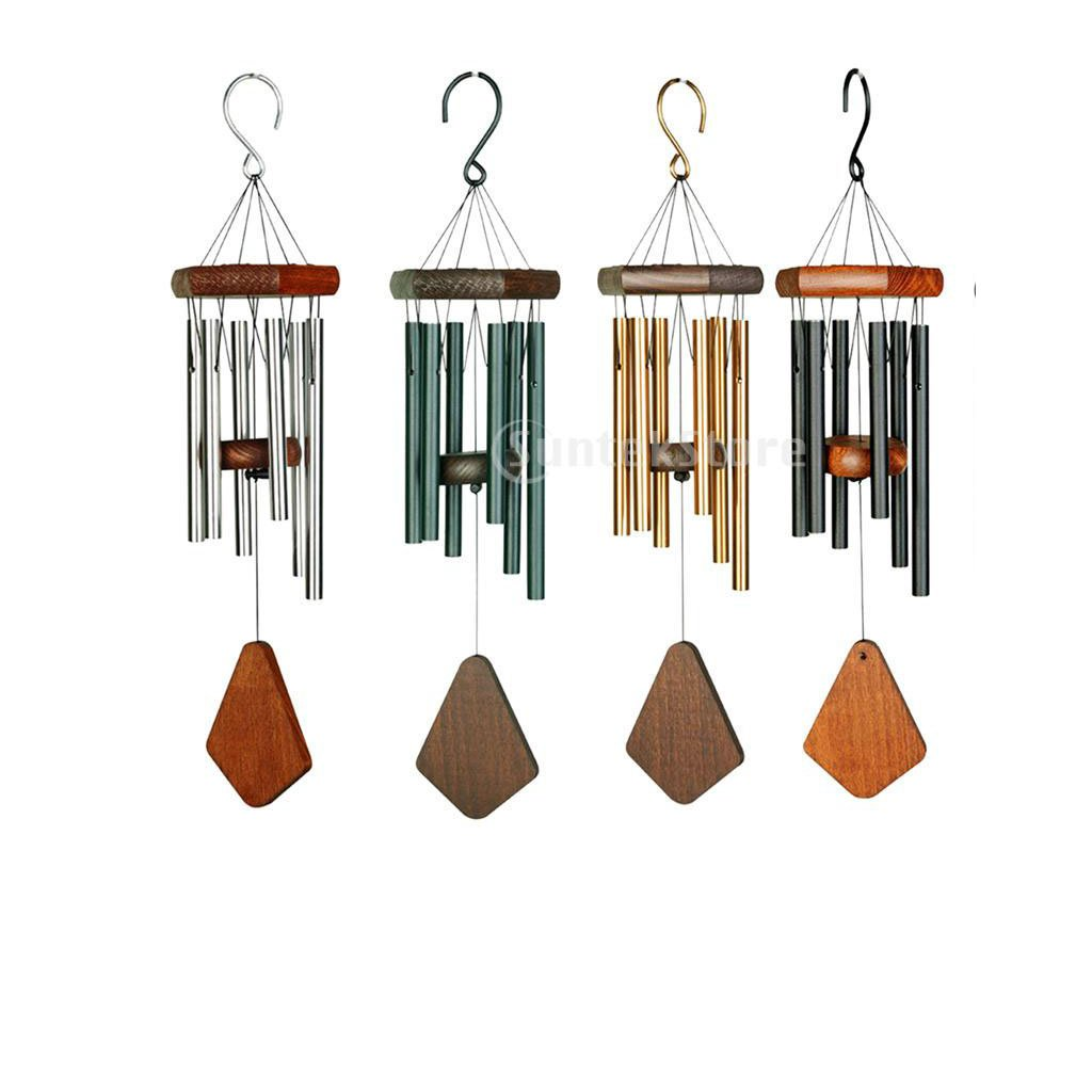 Fenteer Pack of 4pcs Vintage Premium Wind Chimes Outdoor Amazing Grace 6-tube Wind Chimes for Outdoor Indoor Patio Garden Balcony Hanging Crafts