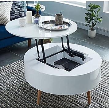 Generique Leonie Table Basse Relevable Style Contemporain Laquee