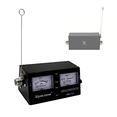 Mcbazel Surecom SW-114 SWR RF Field Strength Test Meter with SO-239 UHF Connector for CB Operation: Car Electronics