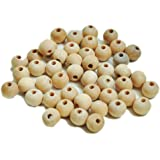 Dealglad® New 200pcs Unfinished Natural Color Round Ball Wood Spacer Beads Jewelry Findings Charms (10mm)