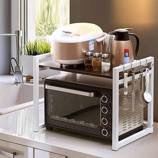 XuQinQin Horno microondas un armario, armario de cocina, de ...