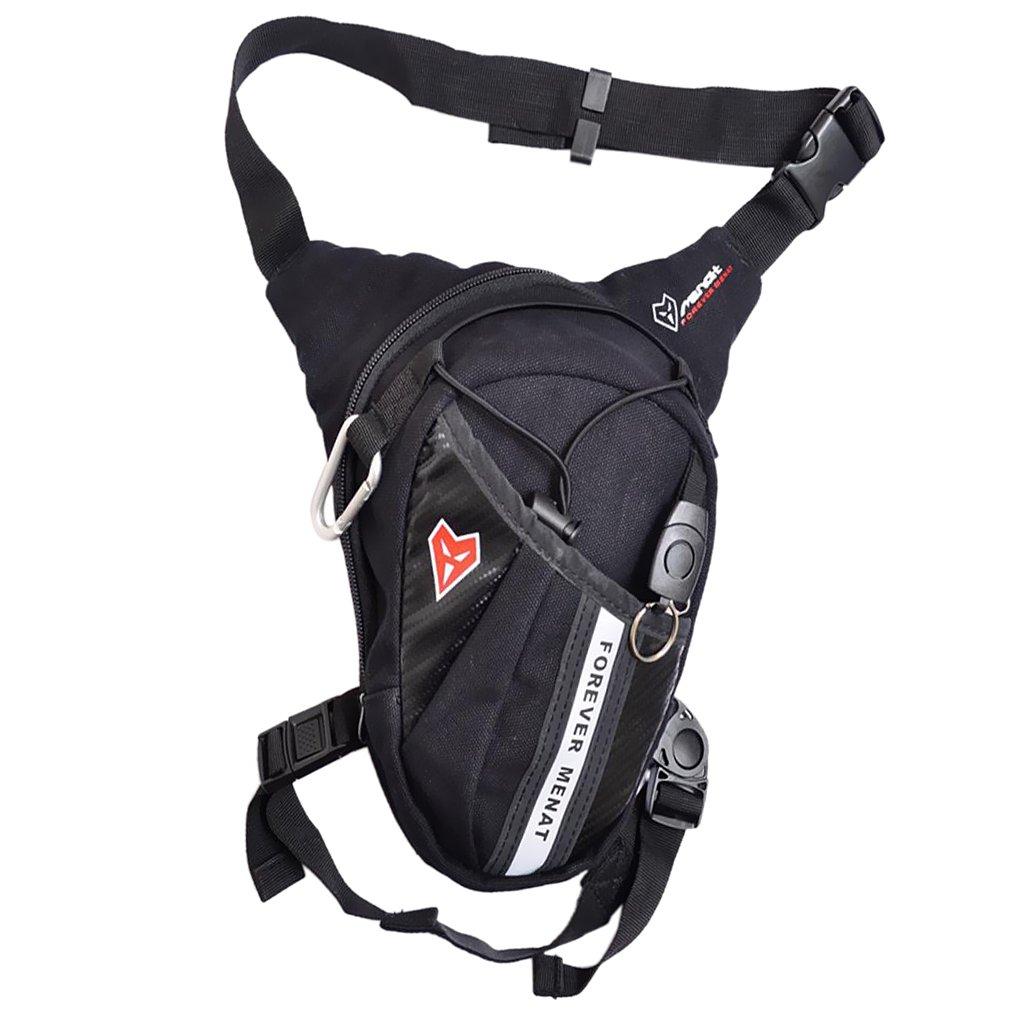 MagiDeal Motorrad fahren Taille Beinbeutel Unisex H/üfttasche Polyesterfaser Tasche