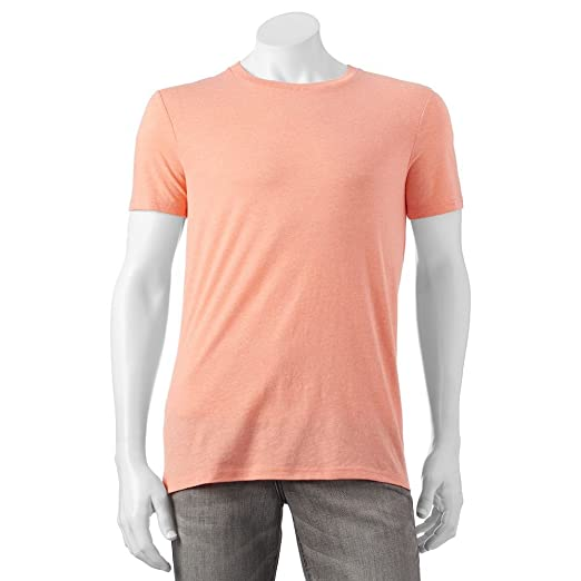 4498721cc0b Image Unavailable. Image not available for. Color  Urban Pipeline Men s  Heather Tee Crew Neck Fusion Coral Large