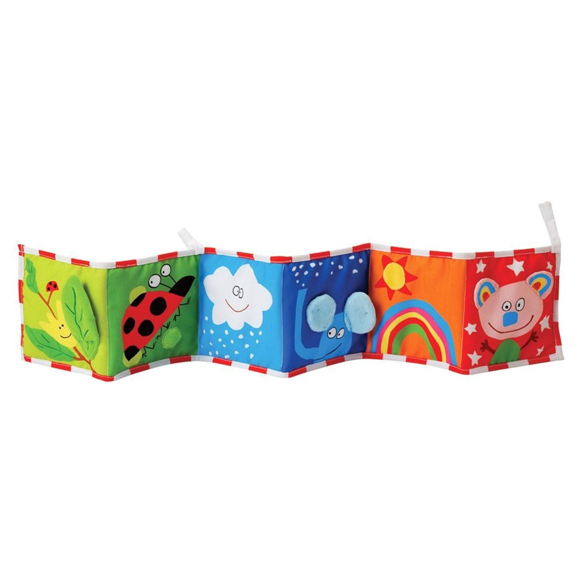 YeahiBaby Clip-on Pram Book for Baby Stroller Pram Carriage and Crib Entertainment and Development Ladybug Pattern