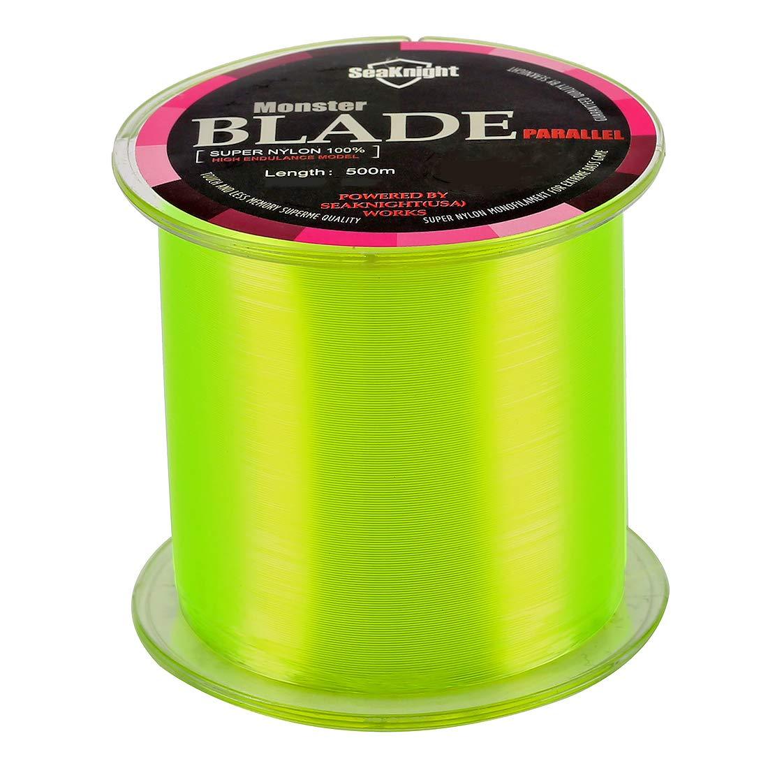 SeaKnight Blade Nylon Linea de Pesca 500 m 547yds Japan Material Monofilamento Carpa Linea de Pesca sedal 2-35LB