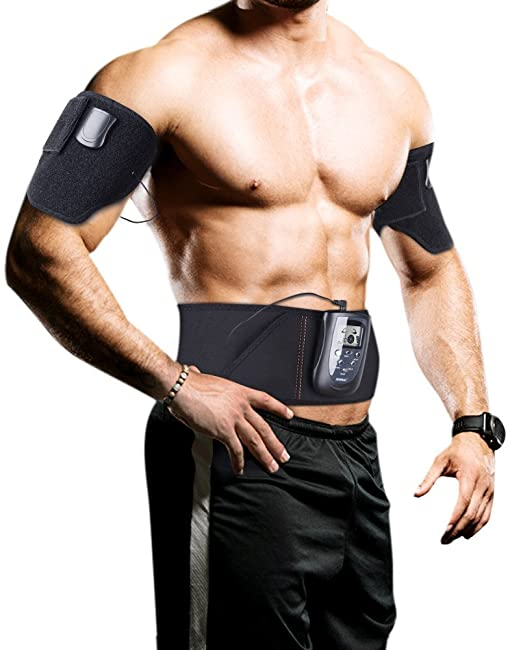 side facing sunmas electric ab belt for women and men