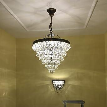Leihongthebox Candelabros de cristal Mesas retro escalera de luces pequeñas arañas para Hall, sala de estudio, oficina, Dormitorio, Salón,350*H600mm: Amazon.es: Iluminación