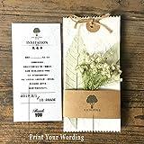 Vintage Wedding Invitations Print Your Invite Wording (100)