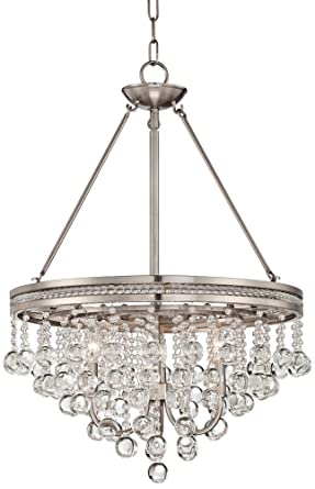 brushed nickel wide crystal chandelier canopy aztec lighting 6 light with shades