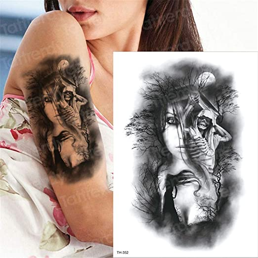 5Pcs-Tattoo y Body Art Tattoo Sticker Brazo Manga Tatuaje ...