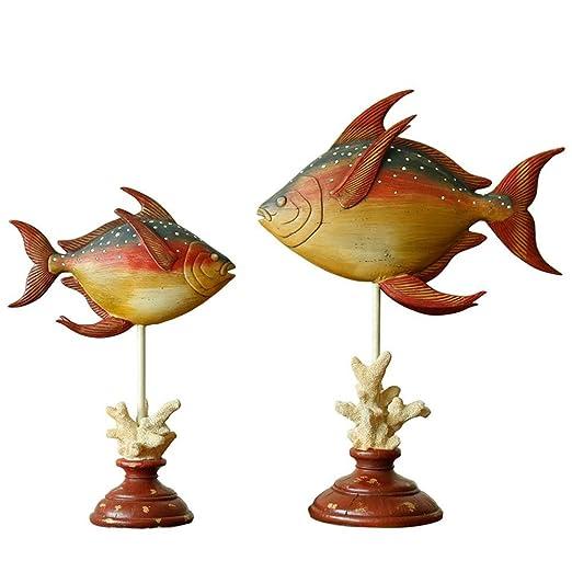 XQElect Escultura Coral Fish Estatua Arte Escritorio Ornamento ...