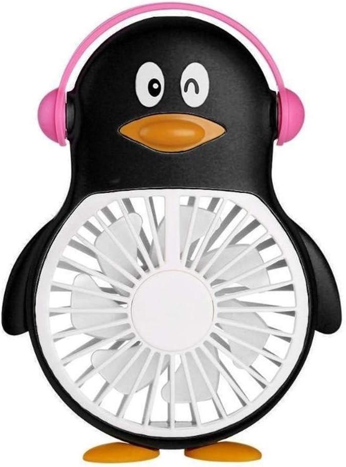 Color : Blue Mini Portable Cooling Fan Cartoon Fan Handheld Desktop Fan Outdoor Portable Mini Air Cooler