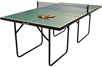 table tennis table. wollowo green 3/4 size junior table tennis/ping pong foldable with bats tennis )