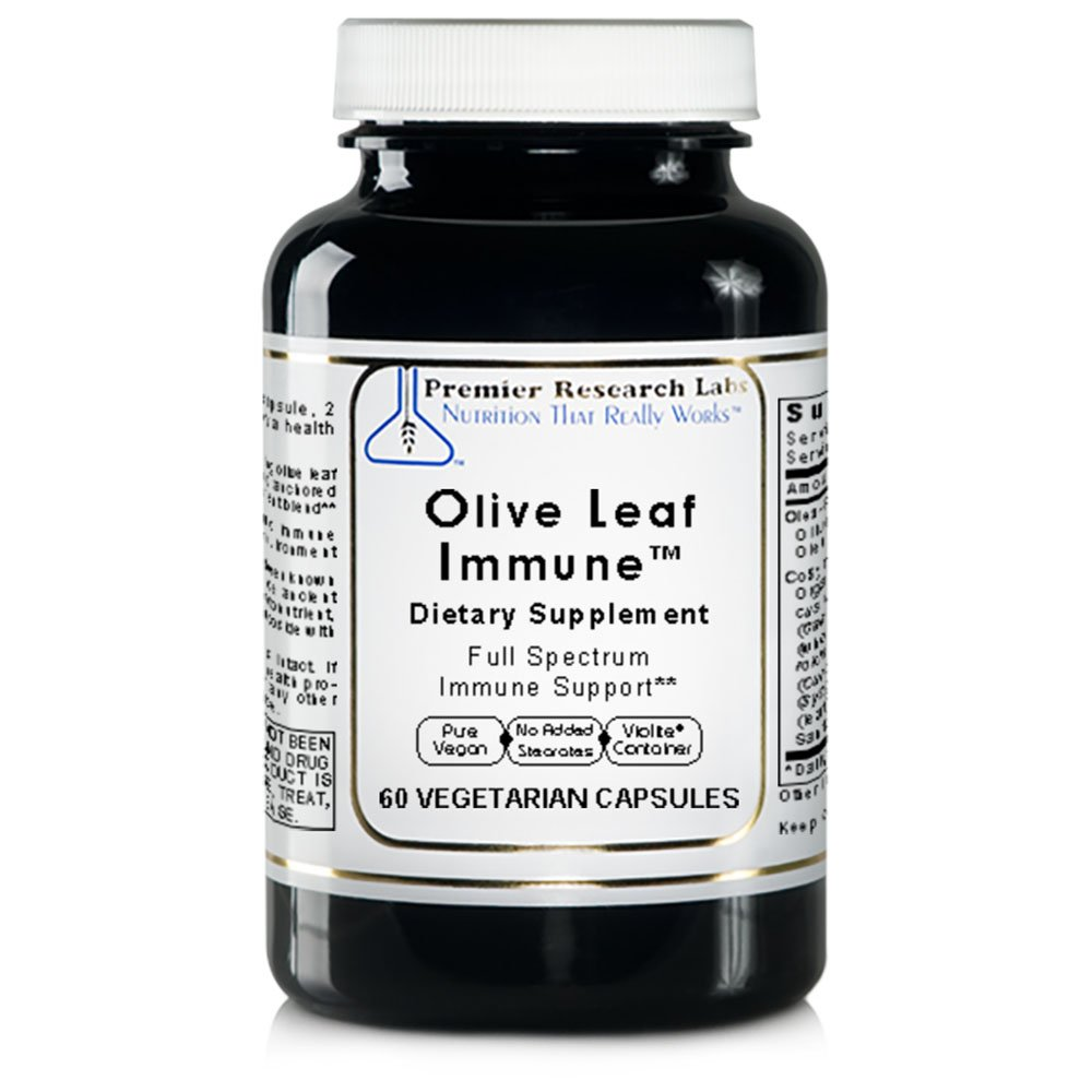 Olive Leaf Immune TM, 60 Capsules, Vegan Product - Olive Leaf Extract Formula for Full Spectrum Immune Support