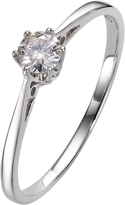 Anillo de compromiso diamante platino con diamante solitario solo de excelente calidad