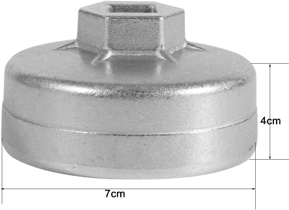 herramienta de carcasa de filtro de aceite resistente Herramienta de enchufe de extracci/ón de tapa de filtro de aceite para motor Llave de filtro de aceite de tapa