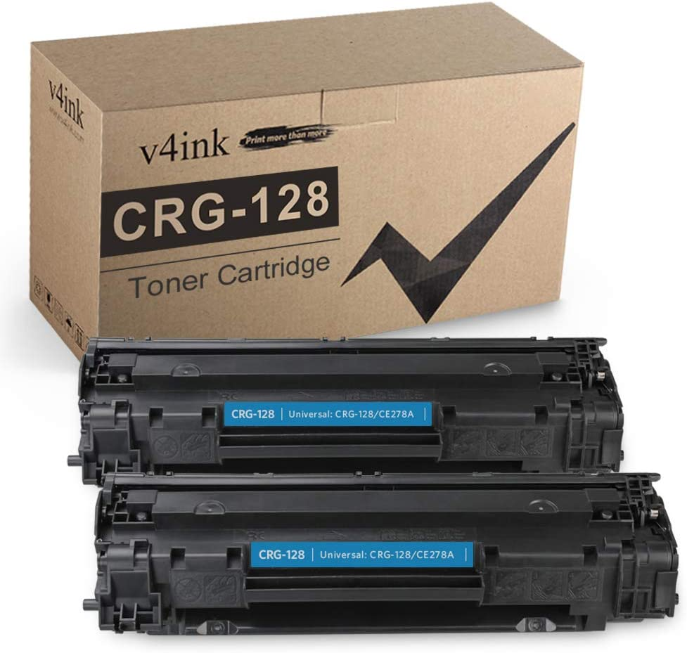 V4INK Compatible CRG 128 CE278A Toner Cartridge Replacement for Canon 128 HP 78A for Canon D530 D550 LBP6230dw LBP6200d L190 MF4890dw MF4880dw MF4450 MF4550d MF4570dn HP P1606dn P1600 M1536dnf 2 Pack
