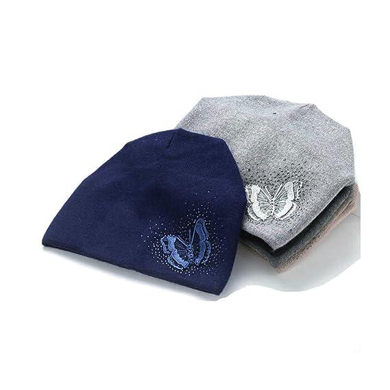 Aooaz Wool Hat Warm Hat for Winter Butterfly Pattern Knitting Hats Womens  Hat Black Length 56 43dcb26c3