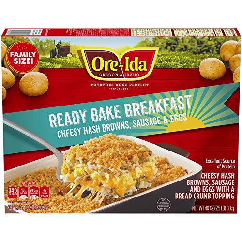 Ore-Ida Ready Bake Breakfast Cheesy Hash Browns, Sausage & Eggs, 40 oz (frozen)