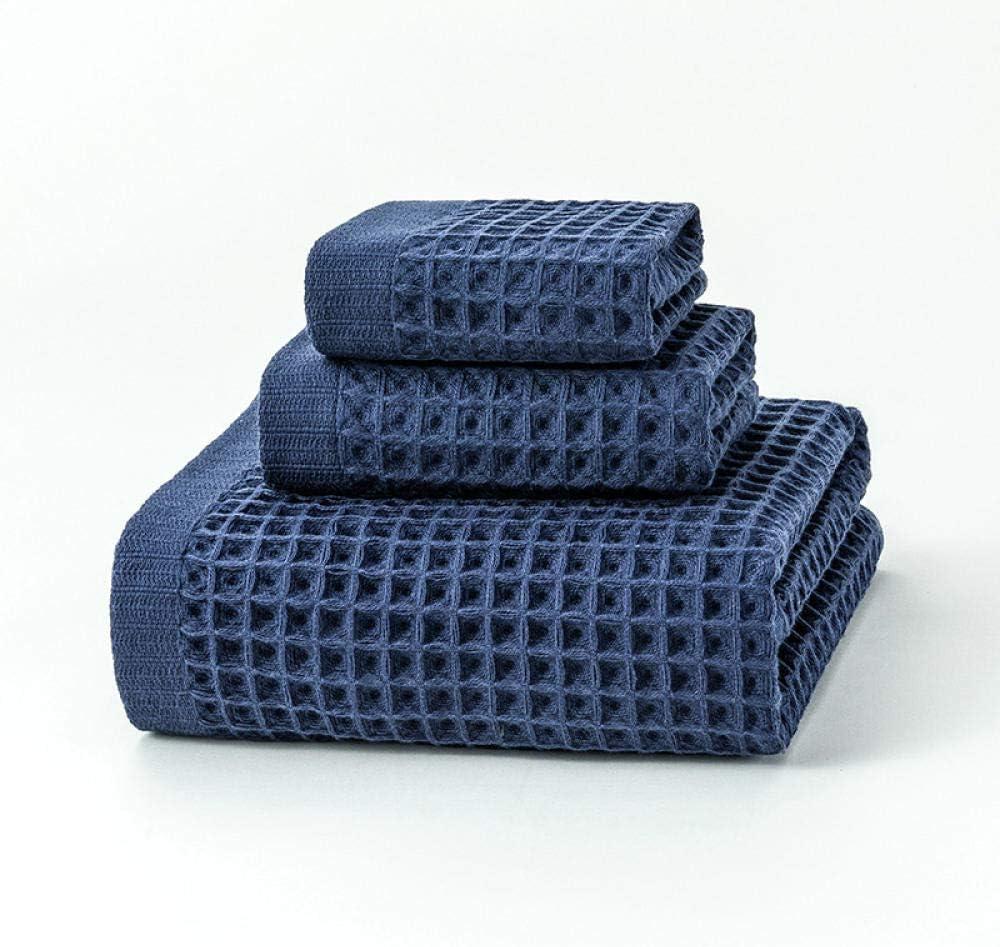 Toallas de algod/ón Toallas cuadradas Juegos de Toallas.-Azul/_58cm * 120cm // 30cm * 55cm // 30cm * 30cm Toallas Zsjlz Tres Juegos de Toallas