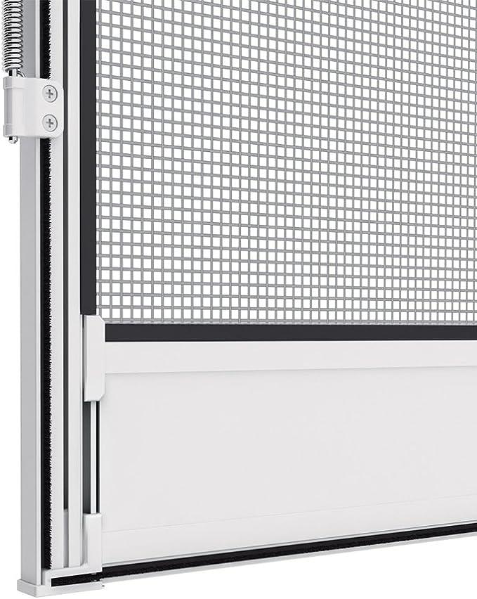Marr/ón 100x215 cm adaptable a cualquier puerta Mosquitera proLINE para puertas con marco de aluminio
