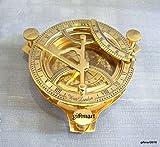 4'' Brass Sundail Compass Antique Vintage Style Nautical Maritime Hiking