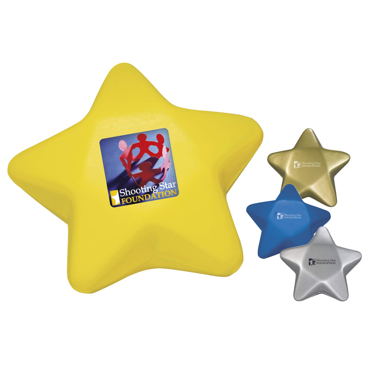 BIC Graphic Star Stress Ball Blue 500 Pack