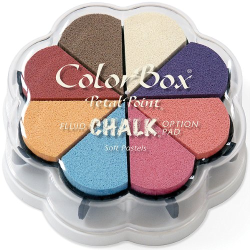 Clearsnap Colorbox Fluid Chalk Petal Point Option Inkpad, Soft Pastels, 8 Colors Per Pad - Fluid Chalk Ink Pad