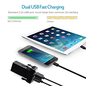 MICTUNING UC001 2.1A Dual USB Power Socket for Smart Phone PDA iPad iPhone Charger for Toyota (Color: Dual USB Charger)