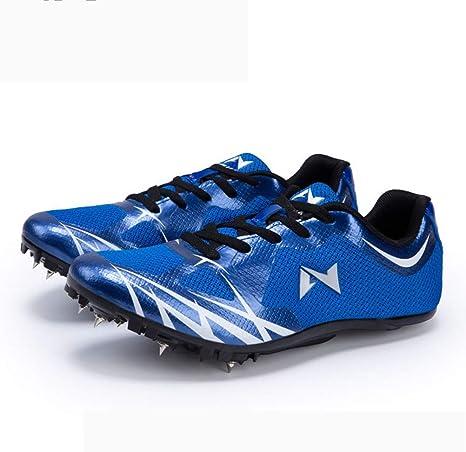 HYGLPXD Zapatillas De Atletismo para Hombres, Zapatillas Clavos para Correr Livianos 8 Clavos para Sprint Junior Unisex Zapatos De Salto Largo Competencia Transpirable,007,35EU: Amazon.es: Deportes y aire libre