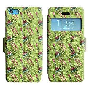 LEOCASE pavo lindo Funda Carcasa Cuero Tapa Case Para Apple iPhone 5C No.1004258