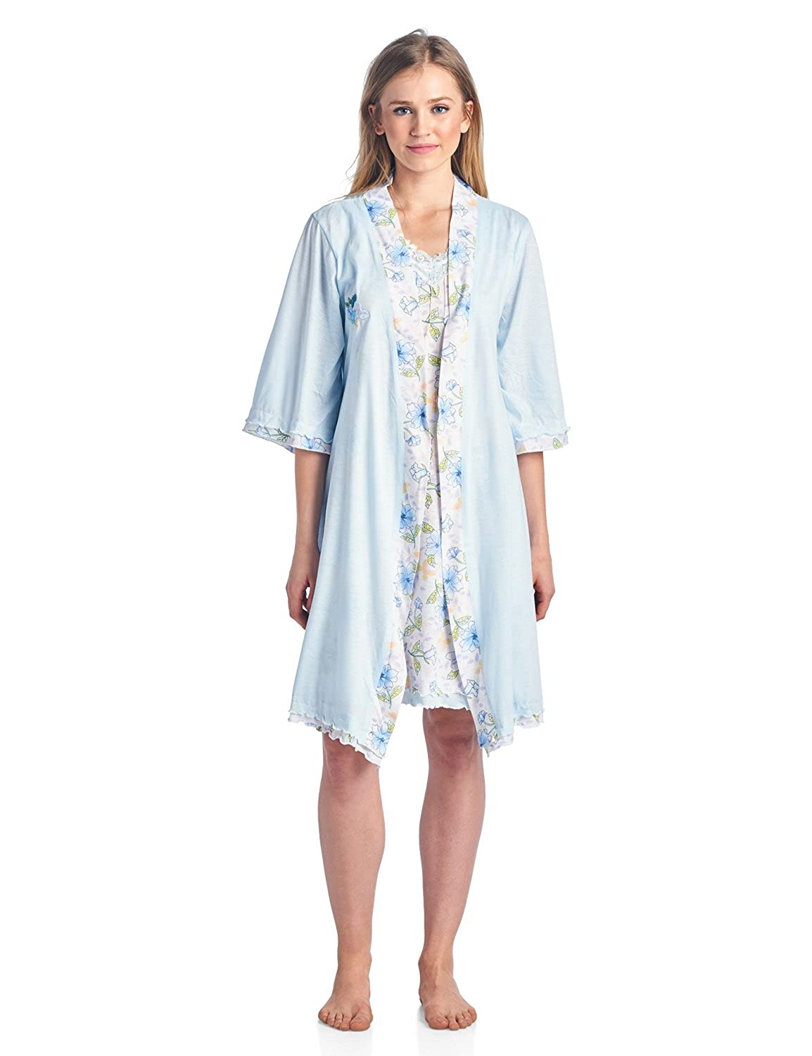 Casual Nights Women\'s Sleepwear 2 Piece Nightgown and Robe Set at ...