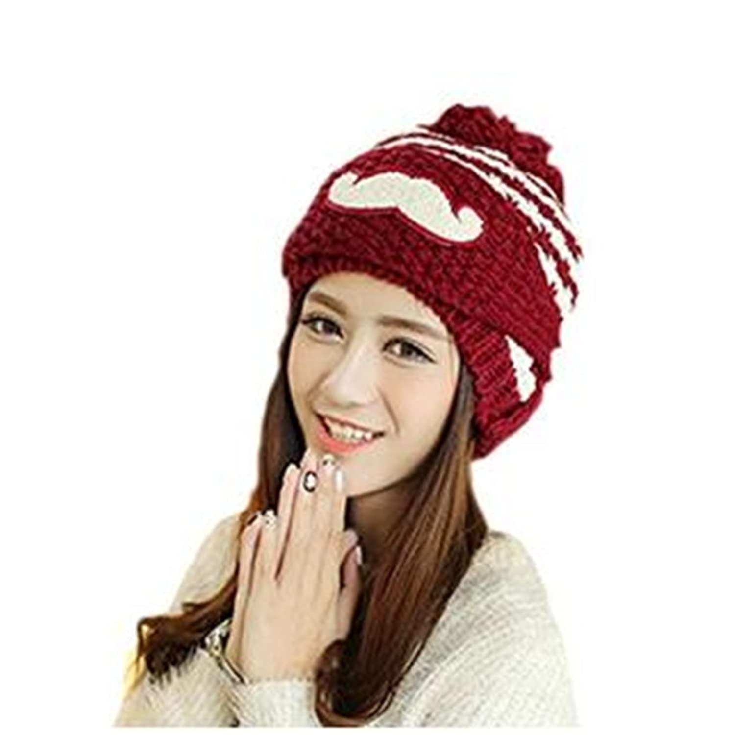 Genius_Baby Beanie Cap Winter Windproof Christmas Knitted Hat Mask for Girls Women