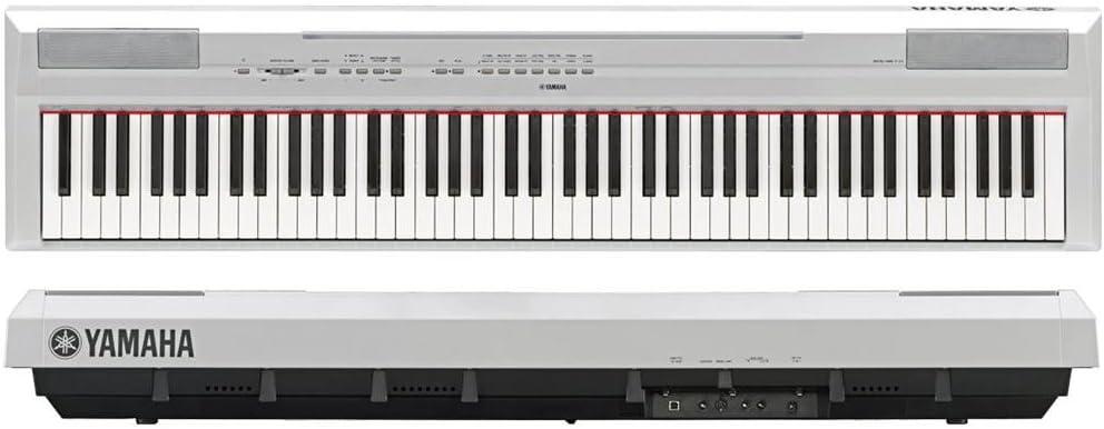 Yamaha P 115 Piano digital de 88 teclas color blanco: Amazon ...