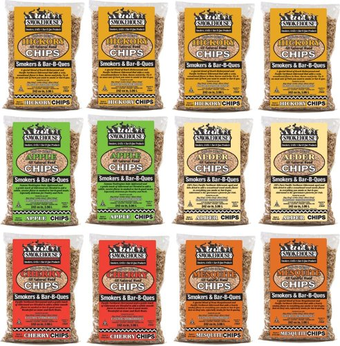Smokehouse Products 9791-010-0000 Assorted Flavor Chunks, 12