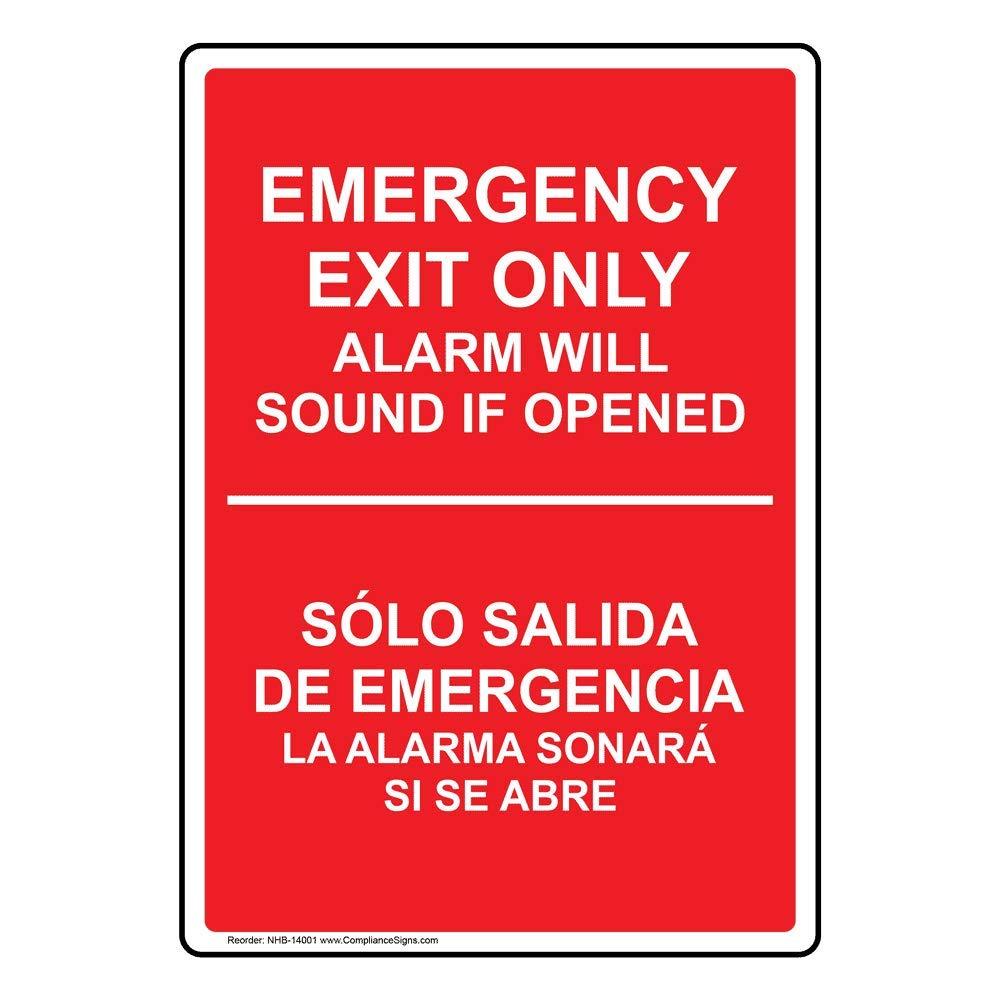 ComplianceSigns Vinyl Alarm Will Sound Label, 10 x 7 in ...