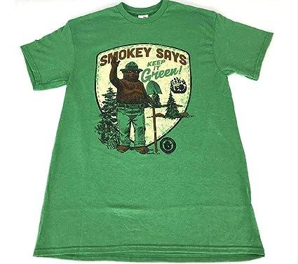 9cec0230 Amazon.com: Delta Apparel Smokey Bear Keep It Green T Shirt Mens ...