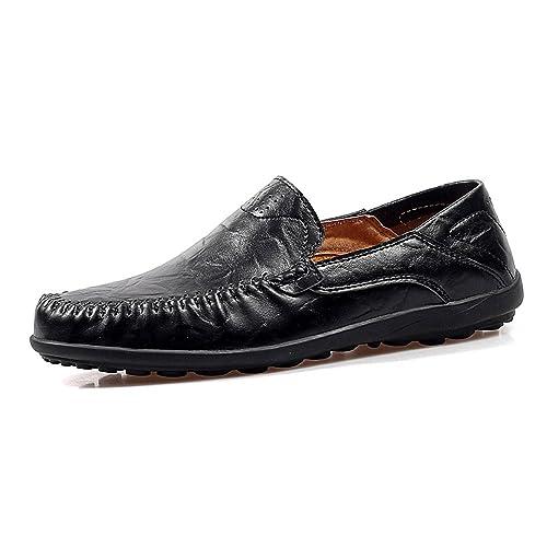 Xinke Mocasines Casuales de Cuero para Hombres Mocasines Zapatos de conducción Zapatillas de Moda Penny Boat Shoes: Amazon.es: Zapatos y complementos