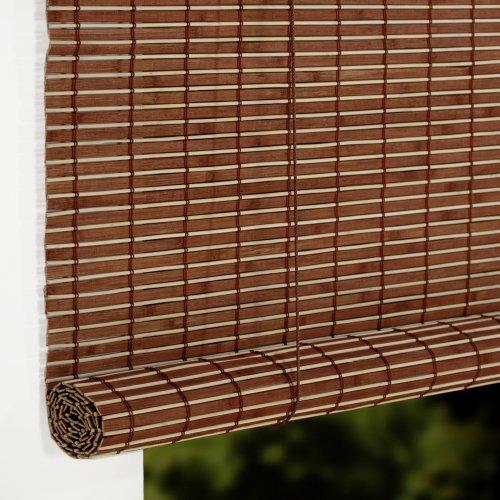 Liedeco Rollo Holz Mit Seitenzug Holzrollo Fur Fenster Und Tur Braun B 100 Cm X L 17
