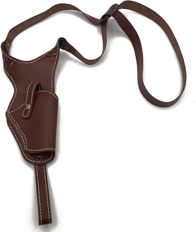Pistola autom/ática Winer Outdoor Totalizador Vertical de Cuero Genuino con Funda de un Hombro y Funda de Pistola Derecha Ajustable para Estante de Pistola Mediana