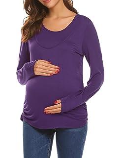 Schwangeres Stillen Nursing Schwangerschaft Top Umstandsmode Unterw/äsche Unibelle Still-Shirt//Umstandstop